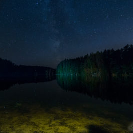 Öine taevas järve ääres; Linnutee